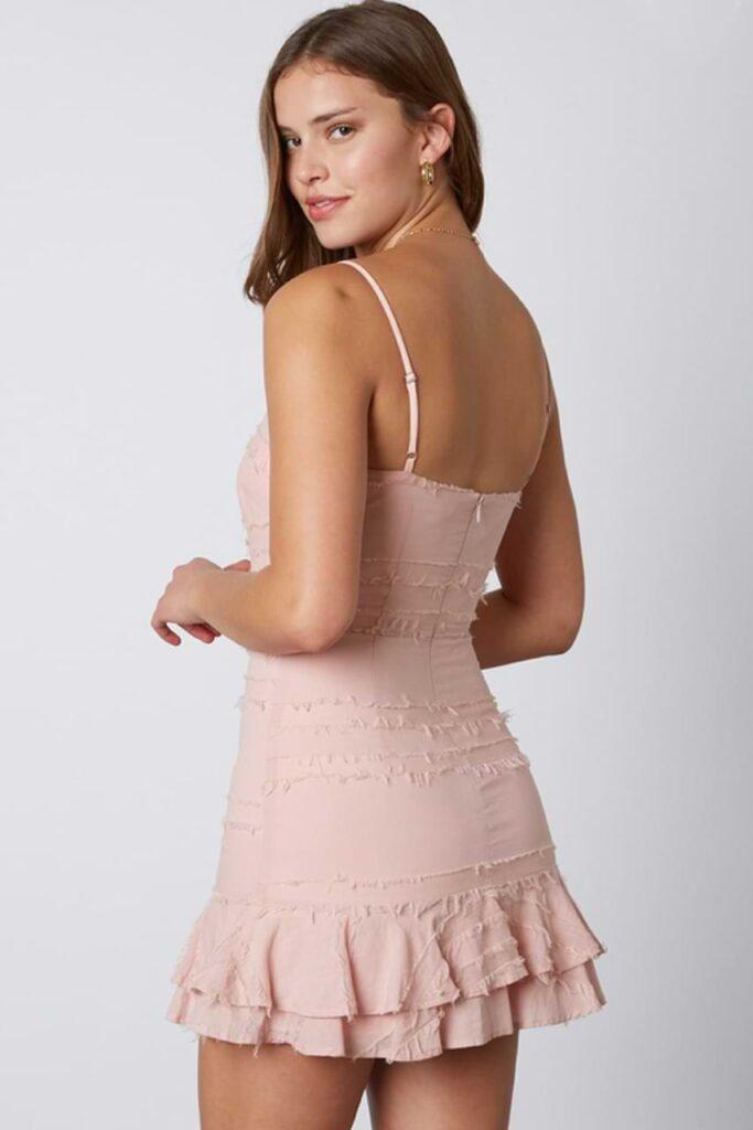Mini Dress Ruffled