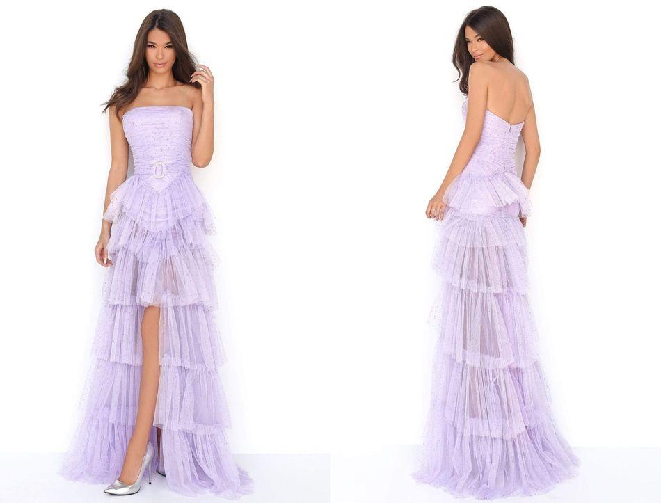 Embellished Long sleeve trumpet dress